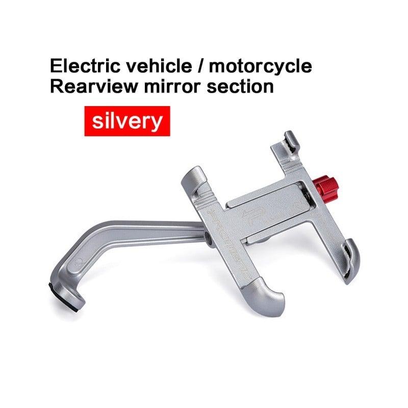 Soporte de aluminio para bicicleta y teléfono, soporte para retrovisor de motocicleta, manillar giratorio de 360 grados para ...
