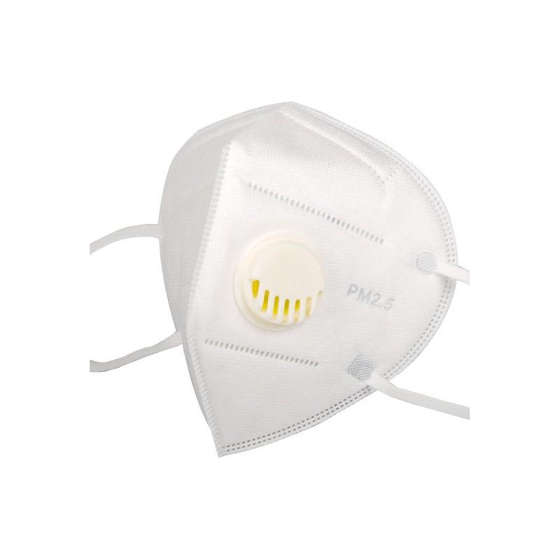 Mascarilla respirador KN95 anticontaminación PM2.5 con valvula Pack 100 unidades Inicio
