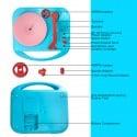 Tocadiscos Mini Celeste TT250 Tocadiscos y Tornamesas