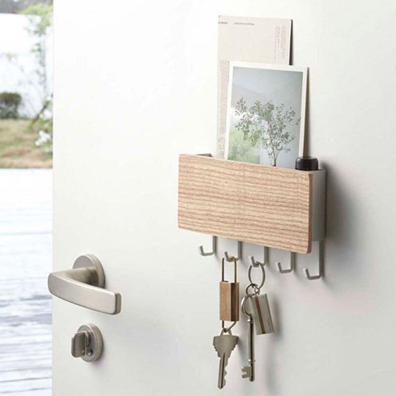 Colgador de llaves madera clara Decoración