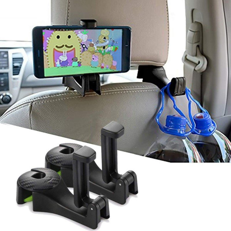 2 juegos de gancho de asiento para el coche ganchos para monedero bolsa soporte organizador de asiento trasero accesorios int...