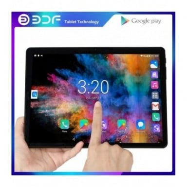 Tablet 10,1 pulgadas tabletas Android 7,0 Quad Core 32GB ROM 2.5D de acero pantalla IPS WiFi Bluetooth tableta GPS PC tarjeta SI