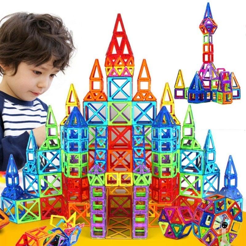 Minijuego de construcción de diseñador magnético, de 184 Uds. A 110 Uds., juguete de construcción, bloques magnéticos de plás...