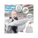 Cubierta para carro de compras plegable de supermercado para bebé, asientos de seguridad para bebés, alfombrilla para silla a...