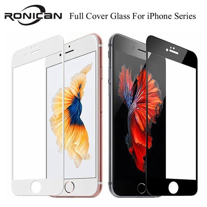 Cubierta de vidrio templado de cobertura completa 9H para iPhone 7 8 6 6s Plus Protector de pantalla película protectora para...