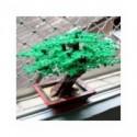 Conjunto de ladrillos de bloques de construcción MOC de Marumine, árbol en miniatura, 205/343 Uds., accesorios de plantas, pa...