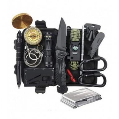 De Emergencia Kit de supervivencia de Kit de primeros auxilios SOS herramienta táctica linterna con Molle bolsa adecuado para de