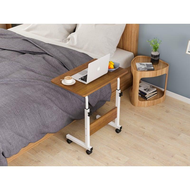 Mesa ajustable para computador caoba Mesas