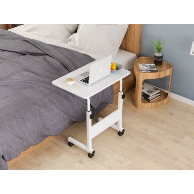 Mesa ajustable para computador blanca