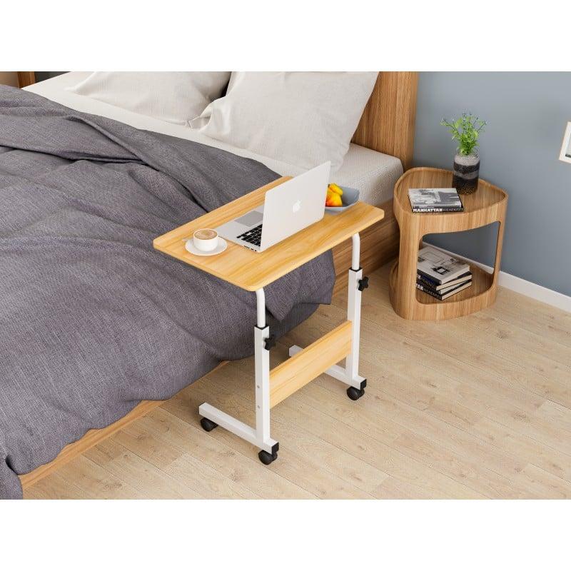 Mesa ajustable para computador madera clara Mesas