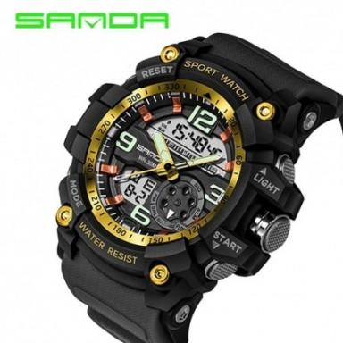 Relojes deportivos SANDA 759 para hombre, relojes de cuarzo militares de lujo de la mejor marca, relojes de pulsera a prueba de