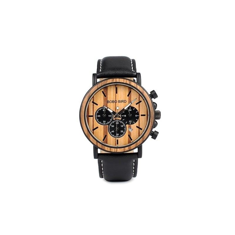 BOBO BIRD P09 relojes de madera y acero inoxidable Relojes de mano luminosos para hombre relojes de pulsera de cuarzo en caja...