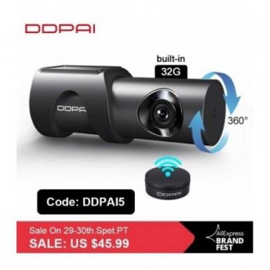 DDPai cámara de salpicadero Mini3 1600P HD Dvr de la cámara del coche Auto vehículo Video Recroder Android Wifi Monitor de aparc