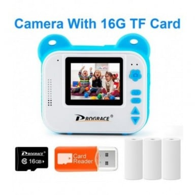 Chico impresión instantánea niños cámara de cámara Digital para chico juguete foto de cámara para niña Regalo de Cumpleaños Jugu