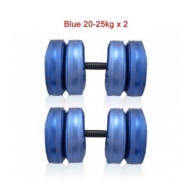 Mancuernas de agua ajustables de 2 uds., juego de mancuernas de 20-25KG heavy Weight para gimnasio y Fitness en casa, equipo de