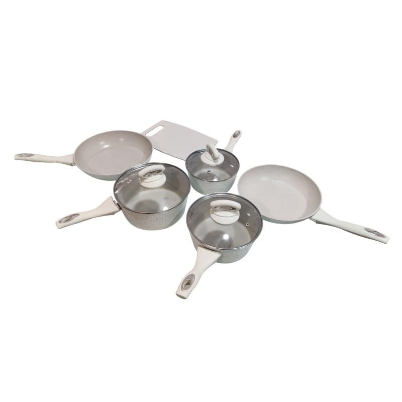Juego de cocina 10 piezas + 6 utensilios ceramica antiadherente Cocina