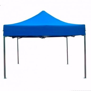 Toldo plegable 3x3 metros. Color azul