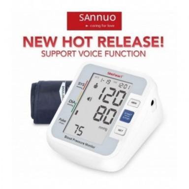Sinocare-tensiómetro automático Digital para la parte superior del brazo, medidor de presión arterial, frecuencia cardíaca, pant