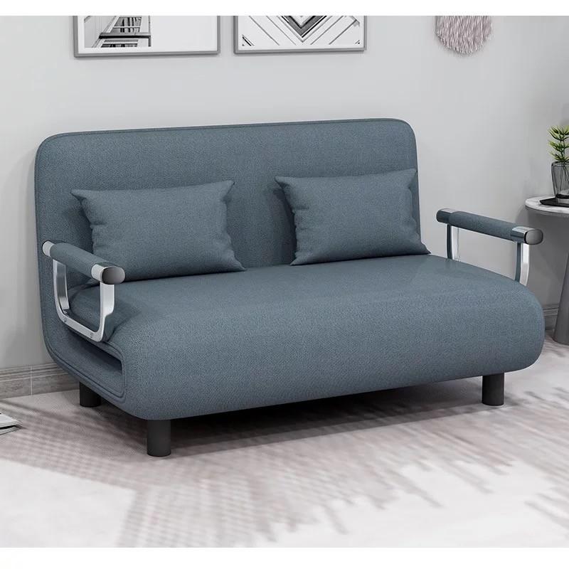 Sofa Cama Extendible Azul Linen Sofás