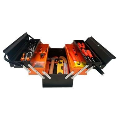 Caja de herramientas de 34 piezas. Incluye accesorios