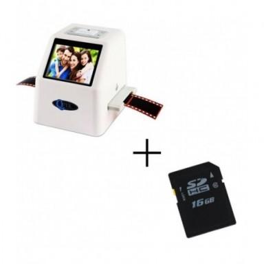 De alta resolución 22 MP 110 135 126KPK Super 8 negativo escáner de diapositivas de 35mm escáner de película de cine Digital con