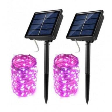 Led al aire libre guirnaldas de luces alimentadas por energía Solar de vacaciones de Navidad para Navidad jardín boda fiesta de