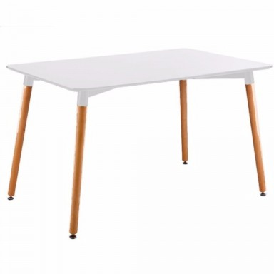 Mesa Eames rectangular color blanco