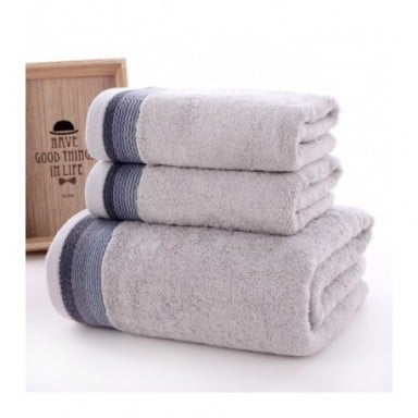 Conjunto de toallas de baño de fibra de bambú para adultos, toallitas de baño de alta absorción, para playa, 3 piezas