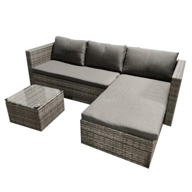 Juego de Terraza Grey Chaise Collection