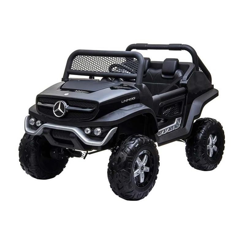 Auto a bateria buggy Mercedes Unimog Negro Juguetes