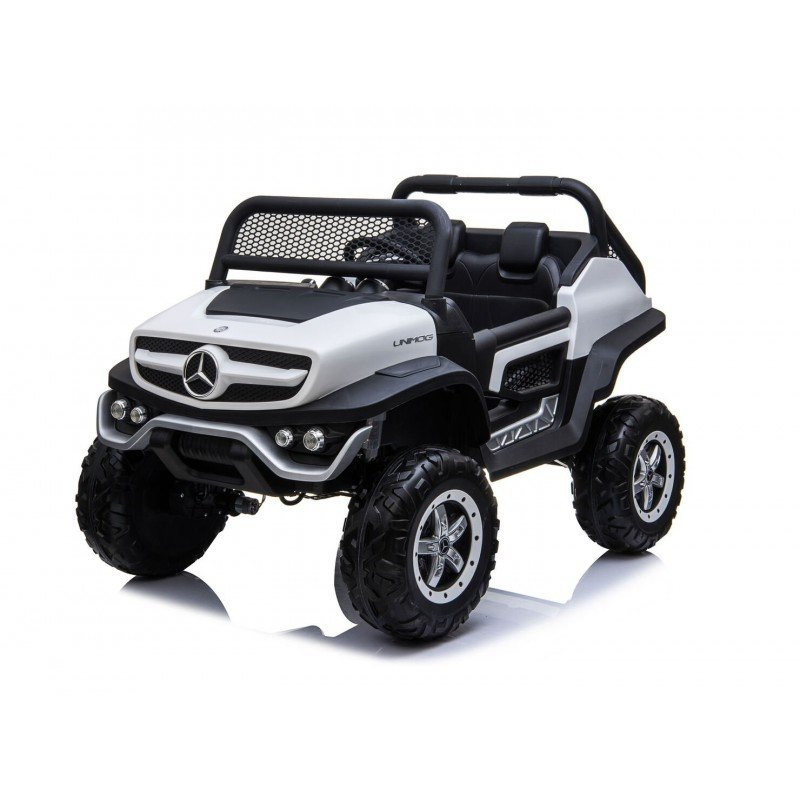 Auto a bateria buggy Mercedes Unimog Blanco Juguetes