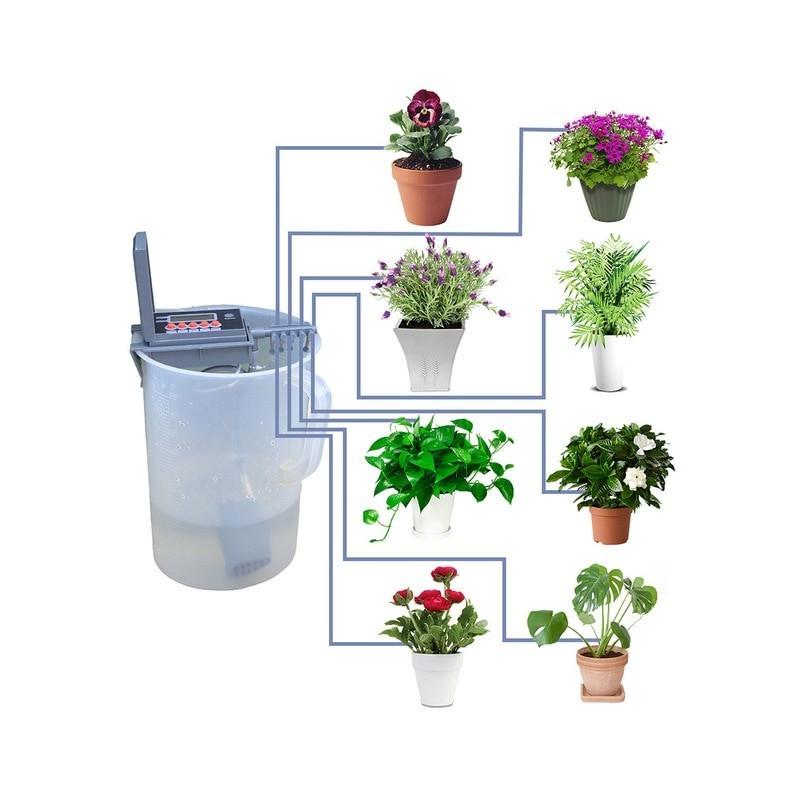 Microsistema de riego por goteo automático para casa, rociador con controlador inteligente para jardín, bonsái para interiores 2
