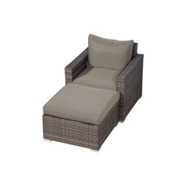 Juego 2 piezas silla + Ottoman Indulgence