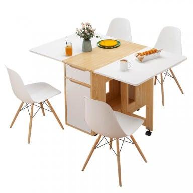 Comedor plegable Nordico para 4 personas