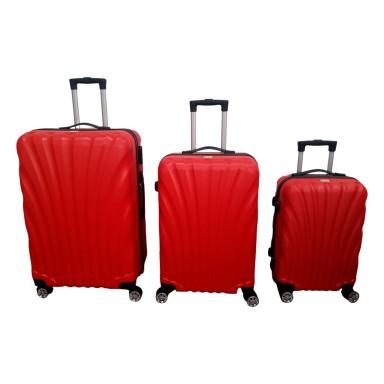 Set 3 maletas ABS Rojas Scheffler