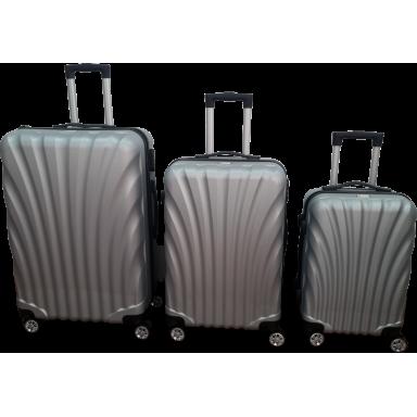 Set 3 maletas ABS Plata Scheffler