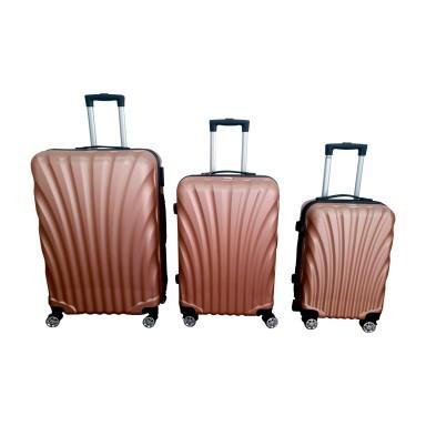 Set 3 maletas ABS Rose Gold Scheffler