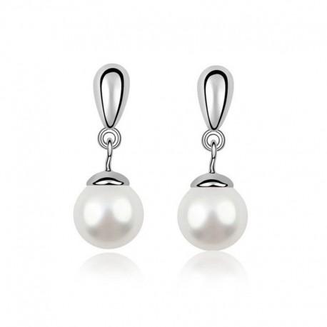 Aros de perla colgantes Belleza
