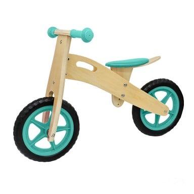 Bicicleta aprendizaje infantil madera verde