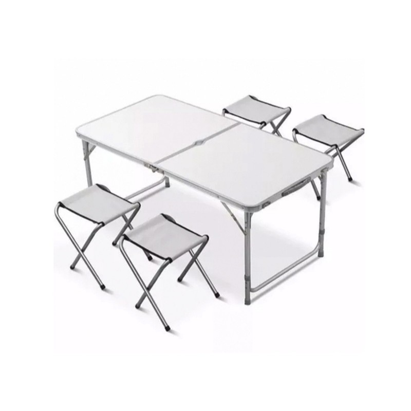 Mesa de camping plegable con sillas mesa picnic plegable for Mesas plegables para camping