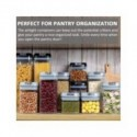 Contenedores de plástico para almacenamiento de alimentos, juego de cajas de cocina con tapa, refrigerador, rejilla sellada t...