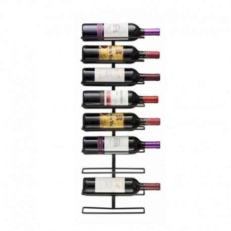 Rack metálico para 9 botellas de vino Inicio