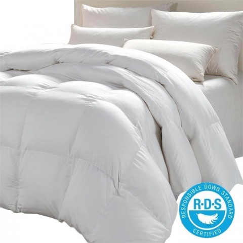 Plumón Blanco 100% Pluma Ganso / Con certificacion RDS Plumones
