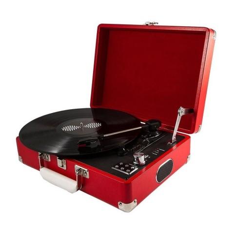 Tocadiscos 3 velocidades con maleta roja Tocadiscos y Tornamesas
