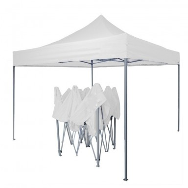 Toldo plegable 3x3 metros. Color Blanco