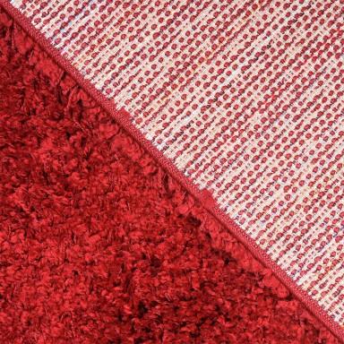 Alfombra Shaggy 1.8k Studio 50x200cm Time Rojo Alfombras