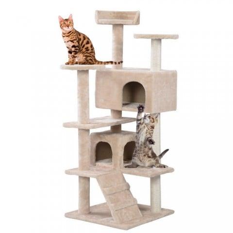 Rascador para Gatos tres niveles. Terraza y Jardin
