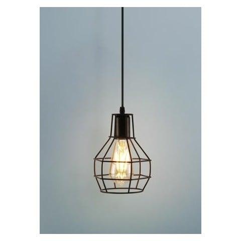 Lámpara Ovalada Metálica Iluminación