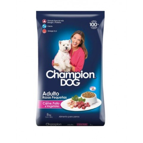 Champion Dog Raza pequeña 8Kgr Mascotas