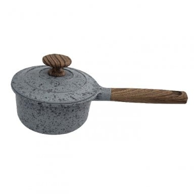 Olla de piedra con tapa